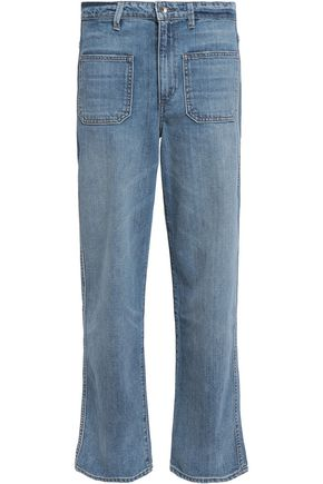 HELMUT LANG Faded mid-rise straight-leg jeans