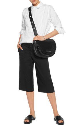 DKNY Cotton-blend poplin culottes