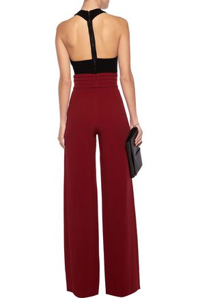 CUSHNIE ET OCHS Stretch-cady wide-leg pants