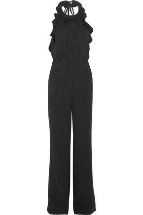 DIANE VON FURSTENBERG Blithe ruffle-trimmed silk-crepe jumpsuit