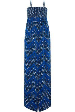 DIANE VON FURSTENBERG Ivena printed stretch-silk jumpsuit