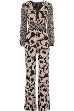 DIANE VON FURSTENBERG Viona printed silk-blend crepe de chine jumpsuit
