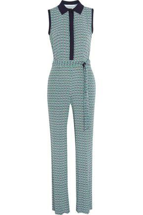 DIANE VON FURSTENBERG Trista printed crepe jumpsuit