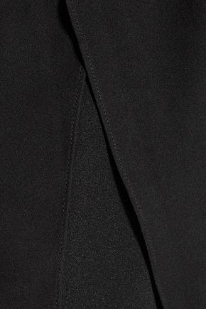 HAUTE HIPPIE Layered silk-blend crepe de chine slim-leg pants