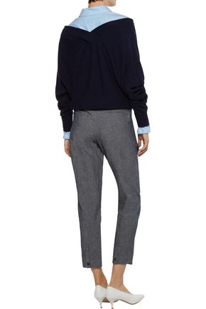 A.P.C. Isabelle cotton-blend chambray tapered pants