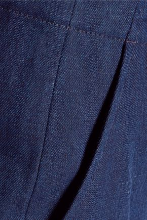 A.P.C. Jockey cotton and linen-blend straight-leg pants