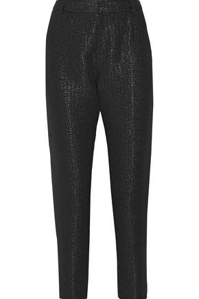 A.P.C. Metallic cotton-blend tapered pants