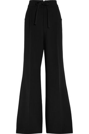 ROLAND MOURET Morely crepe wide-leg pants