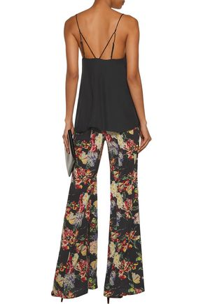 HAUTE HIPPIE Fanfare printed silk wide-leg pants