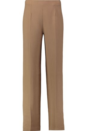 EMILIA WICKSTEAD Wool-crepe wide-leg pants