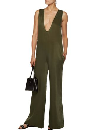 OPENING CEREMONY Cutout twill jumpsuit