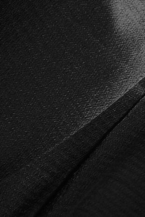 DIANE VON FURSTENBERG Crosby pleated textured-satin tapered pants