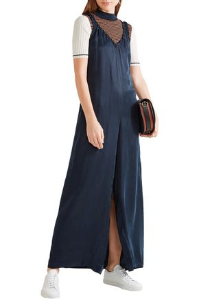 OPENING CEREMONY Sophie ruffled washed-satin jumpsuit