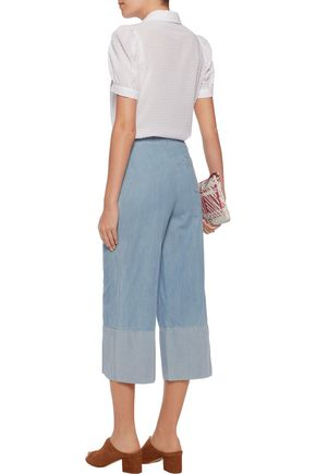 SONIA RYKIEL Two-tone cotton culottes