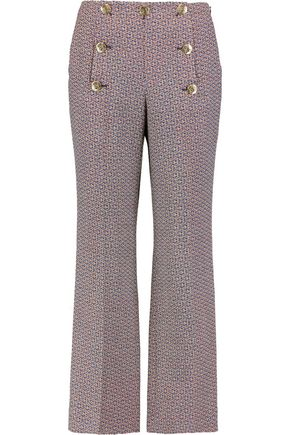 SONIA RYKIEL Cropped wool straight-leg pants