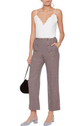 SONIA RYKIEL Cropped wool straight-leg pants