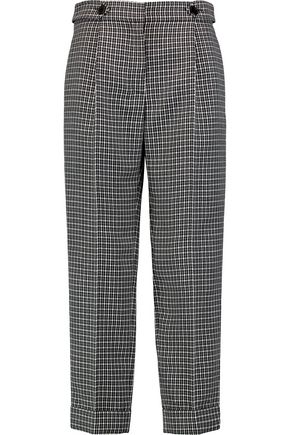 SONIA RYKIEL Houndstooth wool straight-leg pants