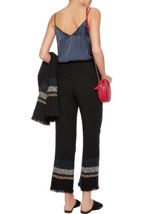 SONIA RYKIEL Tweed cotton-blend wide-leg pants