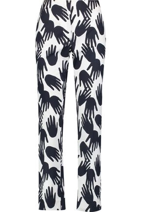 SONIA RYKIEL Printed cotton straight-leg pants