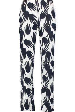 SONIA RYKIEL Printed cotton straight-leg pants