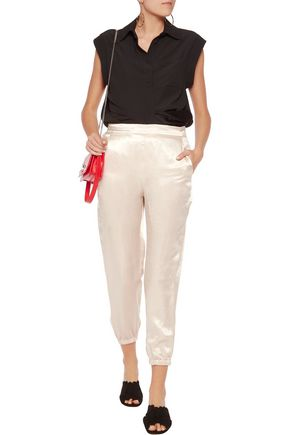 SONIA RYKIEL Satin-crepe tapered pants