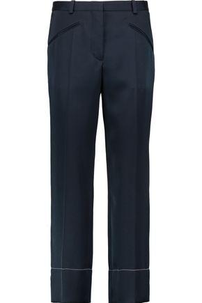 SONIA RYKIEL Cropped crepe de chine straight-leg pants