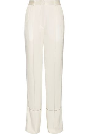 SONIA RYKIEL Satin-crepe wide-leg pants