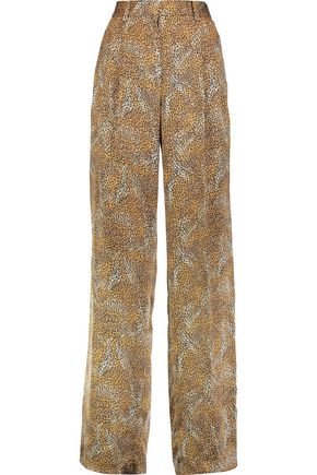 SONIA RYKIEL Leopard-print silk wide-leg pants