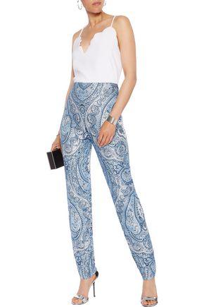 BALMAIN Printed jacquard slim-leg pants