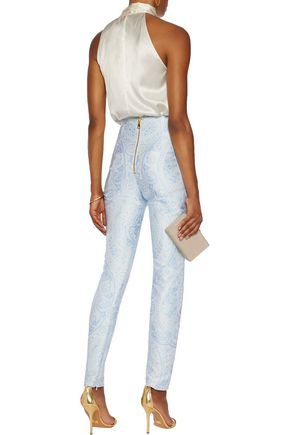 BALMAIN Jacquard skinny pants