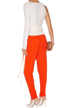 GIVENCHY Pintucked stretch-knit track pants