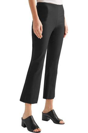 THEORY Cotton-blend flared pants