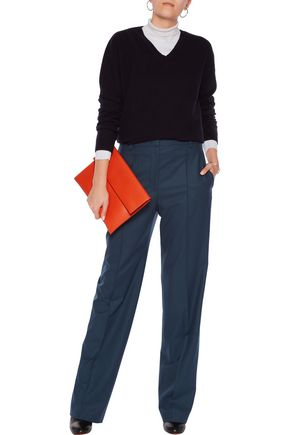 JIL SANDER Wool-blend wide-leg pants