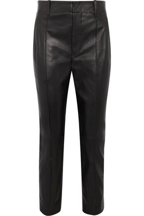 VINCE. Leather tapered pants