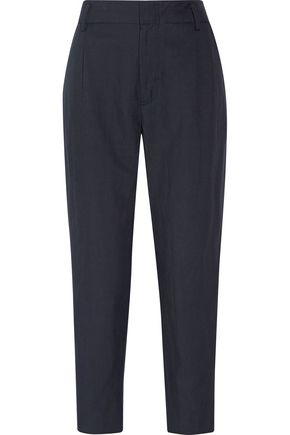 VINCE. Pleated twill straight-leg pants