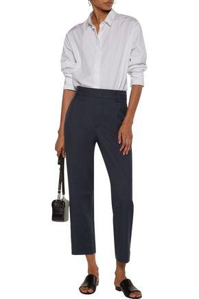 VINCE. Pleated twill straight-leg pants