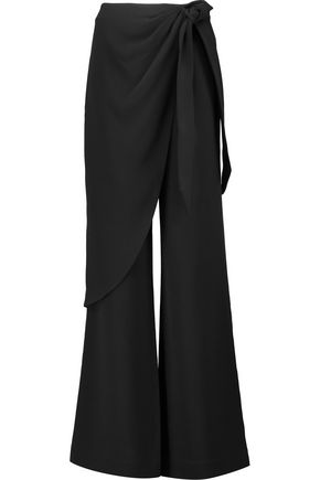 CINQ À SEPT Casablanca draped crepe wide-leg pants