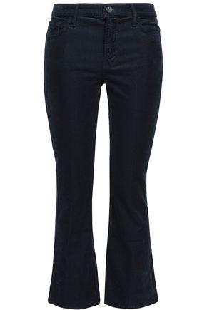 J BRAND Selena cropped cotton-blend corduroy bootcut jeans