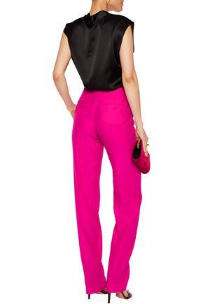 NINA RICCI Wool and silk-blend straight-leg pants