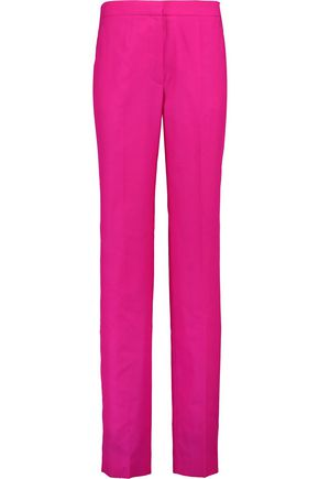 NINA RICCI Wool and silk-blend straight-leg pants
