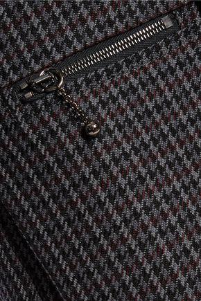 NINA RICCI Cropped houndstooth wool bootcut pants