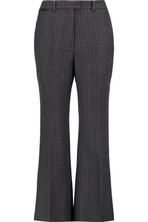 NINA RICCI Cropped houndstooth wool bootcut pants