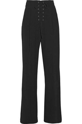 A.L.C. Estrada lace-up woven wide-leg pants