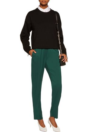 T by ALEXANDER WANG Stretch-silk satin track pants