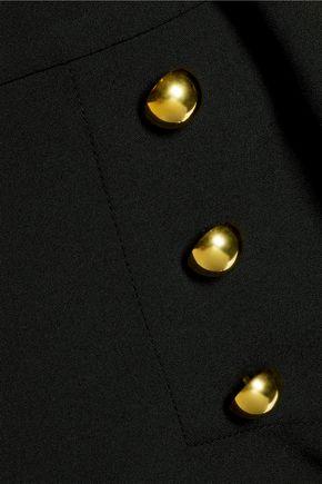 MICHELLE MASON Button-embellished ponte bootcut pants