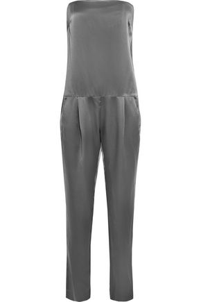 MICHELLE MASON Strapless silk jumpsuit