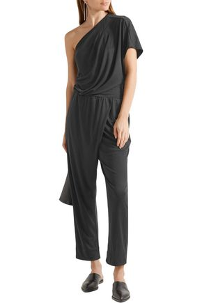 BY MALENE BIRGER Disquon one-shoulder modal-blend jersey jumpsuit