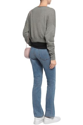 HELMUT LANG Distressed mid-rise flared jeans
