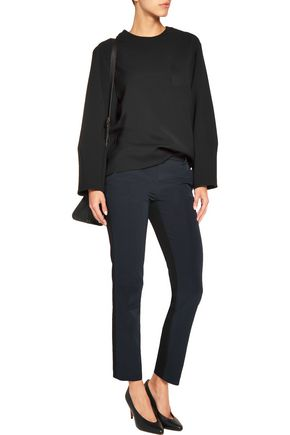 DKNY Two-tone scuba-jersey straight-leg pants