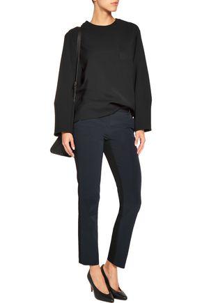 DKNY Two-tone scuba-jersey straight-leg pants